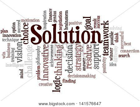 Solution, Word Cloud Concept 9