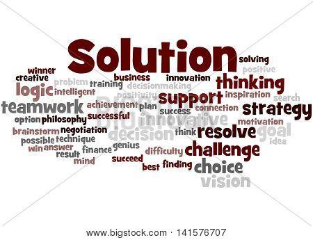 Solution, Word Cloud Concept 5