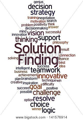 Solution Finding, Word Cloud Concept 2