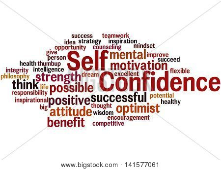 Self Confidence, Word Cloud Concept 8