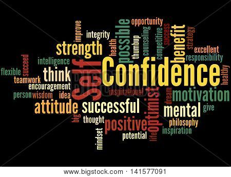 Self Confidence, Word Cloud Concept 6