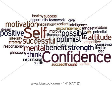 Self Confidence, Word Cloud Concept 4