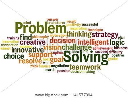 Problem Solving, Word Cloud Concept 8