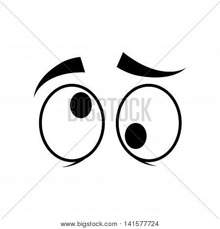 eye crazy look vision optical  icon. Isolated and flat illustration. Vector graphic