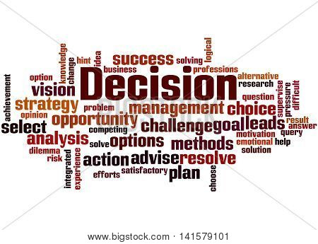 Decision, Word Cloud Concept 9