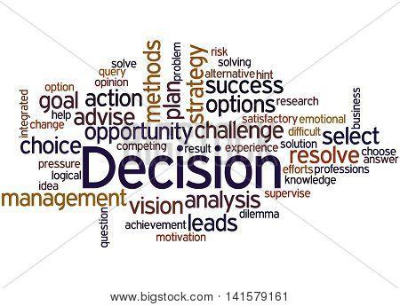 Decision, Word Cloud Concept 6