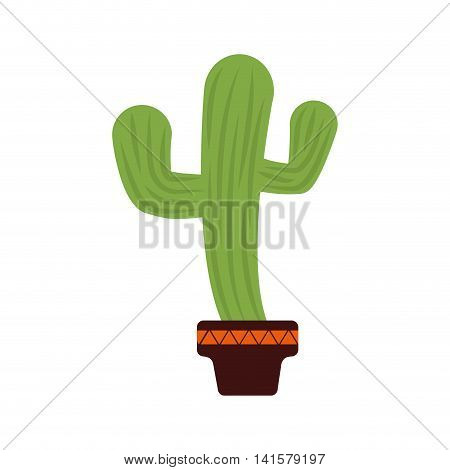 cactus pot plant green desert nature icon. Isolated and flat illustration. Vector graphic