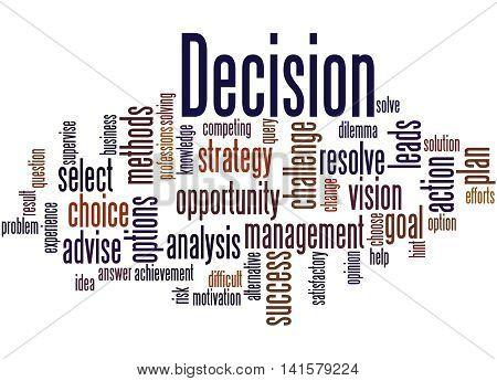 Decision, Word Cloud Concept 3