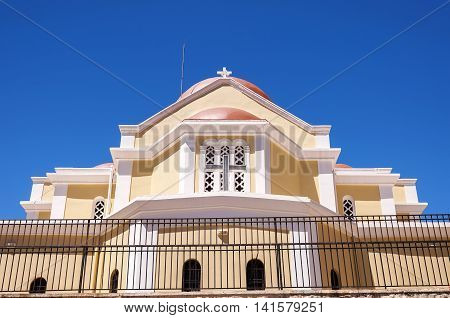 One of the Greek Orthodox churches in the town of Sitia on Crete.