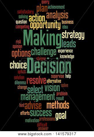 Decision Making, Word Cloud Concept 6