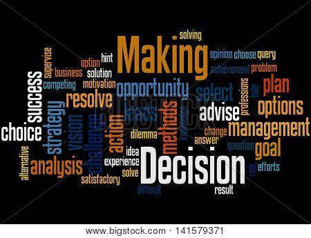 Decision Making, Word Cloud Concept 3