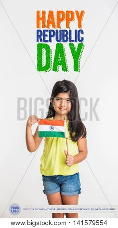 Happy Republic day of India greeting card, 26 january greetings