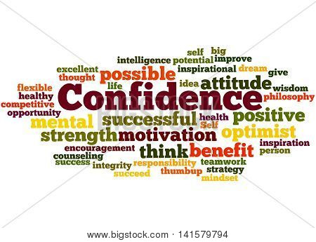 Confidence, Word Cloud Concept 5