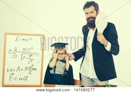 Small Boy Kid And Professor