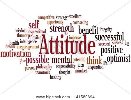 Attitude, Word Cloud Concept