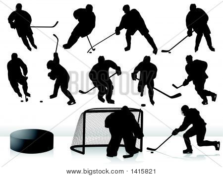 Vector Hockey Players