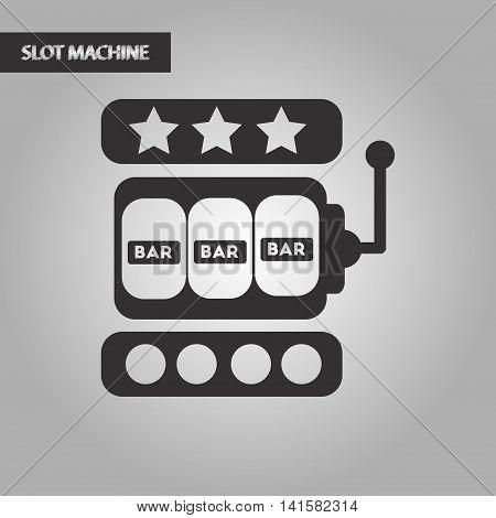 black and white style poker slot machine