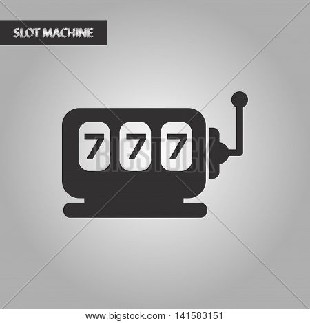 slot machine vector black and white