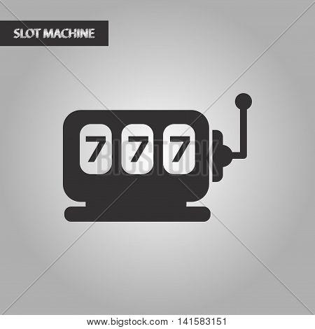 black and white style poker slot machine, vector