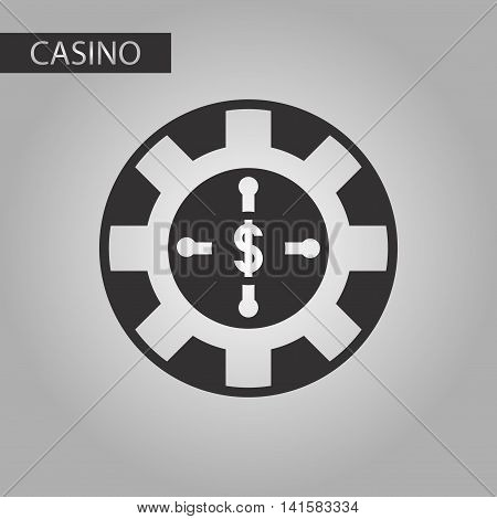 black and white style poker roulette casino