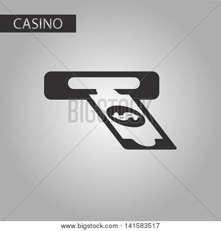 black and white style bank dollar money, vector