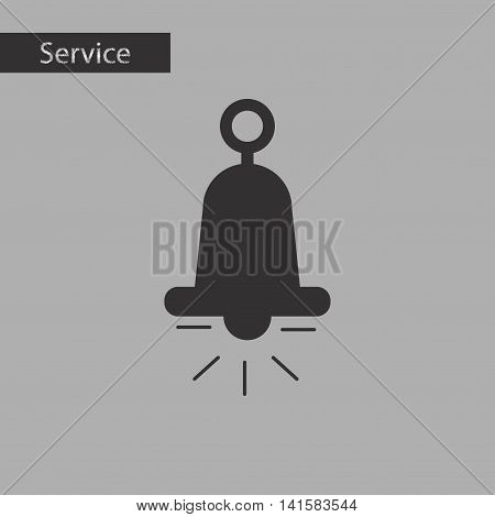 black and white style alarm bell ringer, vector