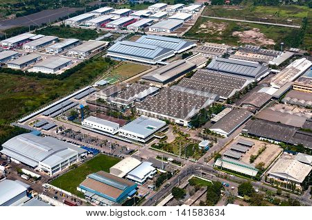 Industrial estate factories warehouse and storage facilities and land development