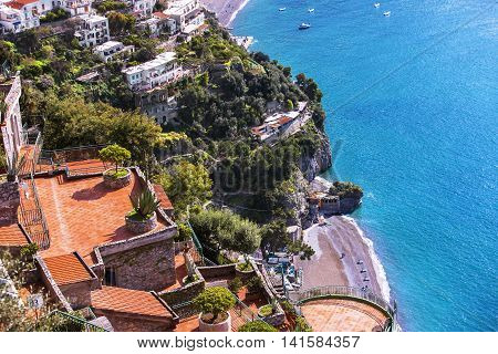 A View Of  roof Garden In Sorrento Coast