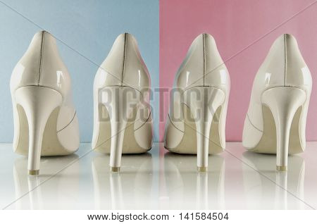 Woman's high heel shoes - Pantone color of the year 2016