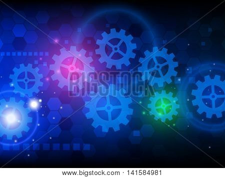 Abstract engineering hi-tech technology background, Vector illustration EPS10