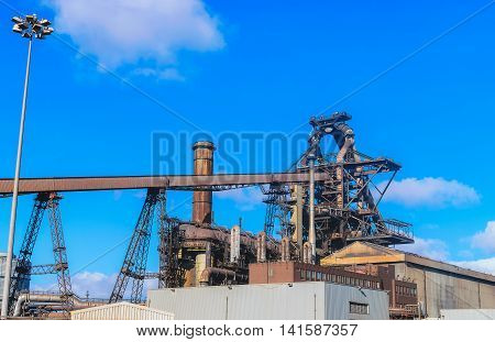 Blast furnace plant in steel industry UK