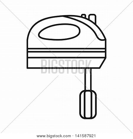 Kitchen mixer icon in outline style isolated on white background
