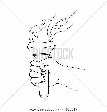 Hand With Flaming Torch