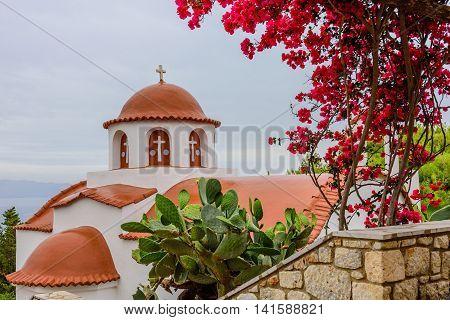 The monastery of Saint Savvas, Kalymnos island, Dodecanese, Greece.