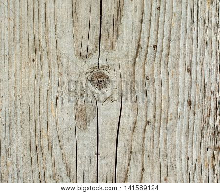 Aged wood plank texture with signs of weathering