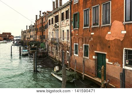 Old, Historical Buildings In Venice, Italy
