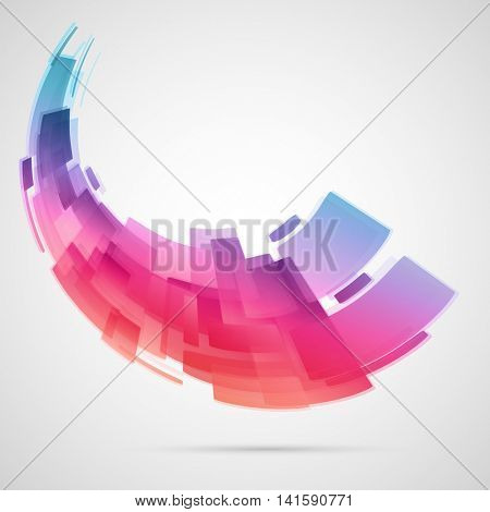 Creative abstract hi-tech futuristic background.