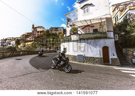 Beautiful Village Of Positano, Amalfi Coast, Italy