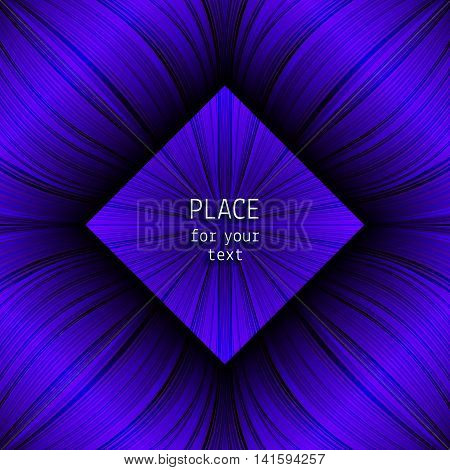 Beautiful violet background with glowing lines and place for your text