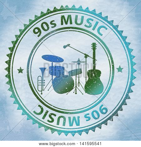 Nineties Music Shows Soundtrack Acoustic And Sound
