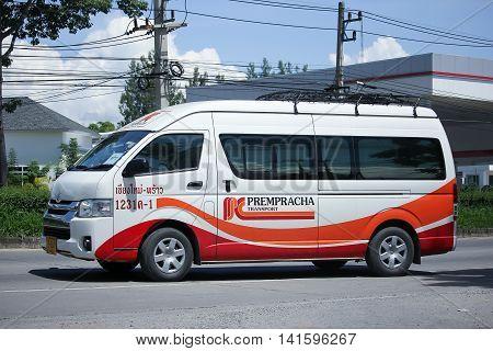 CHIANGMAI THAILAND -JULY 27 2016: Prempracha company van. Route Phrow and Chiangmai. On road no.1001 8 km from Chiangmai Business Area.