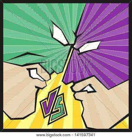 Comic Book Superhero Vs Background Vector & Photo | Bigstock