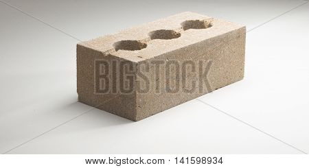 Brick Concrete Face Smooth Hollow Thickened In Different Colors. On A White Background