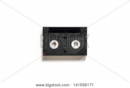 Retro Cassette Video Tape isolated on white