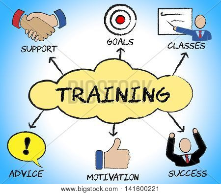 Training Symbols Shows Education Commerce And Instructing