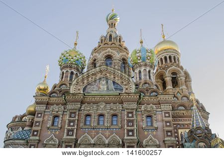 The Church of the Savior on Spilled Blood one of the main sights of St. Petersburg Russia. This Church was built on the site where Tsar Alexander II was assassinated and was dedicated in his memory.