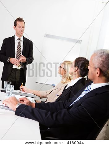 Businessman giving a presentation