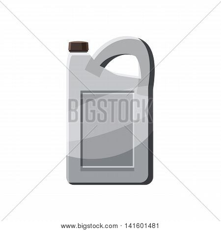 Plastic canister icon in cartoon style on a white background
