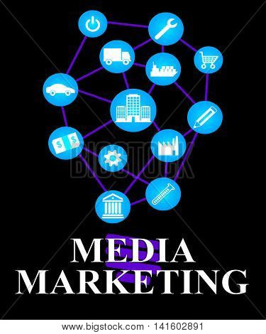 Media Marketing Represents News Tv And Medium