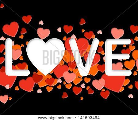 Love Word Means Affection Compassionate And Fondness